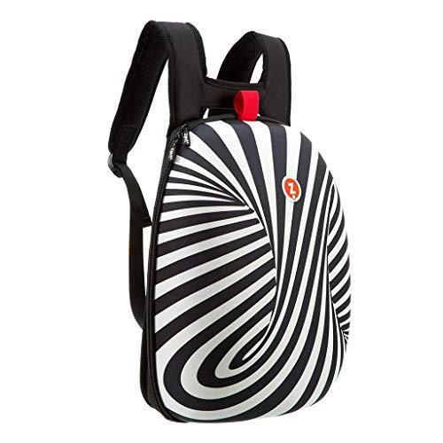 ZIPIT Shell Laptop Backpack, Black & White ()