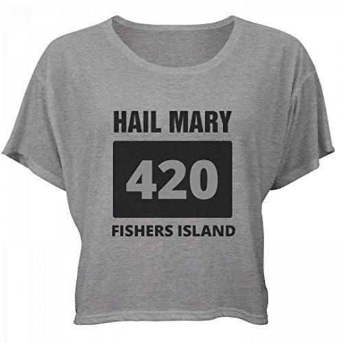 Happy 420 Hail Mary Fishers Island: Bella Women's Flowy Boxy (Party City Fishers)