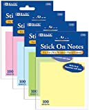 100 Count 3'' x 3'' Stick On Notes 288 pcs sku# 1818211MA