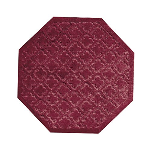 Traditional Lattice Burgundy Octagon Polypropylene