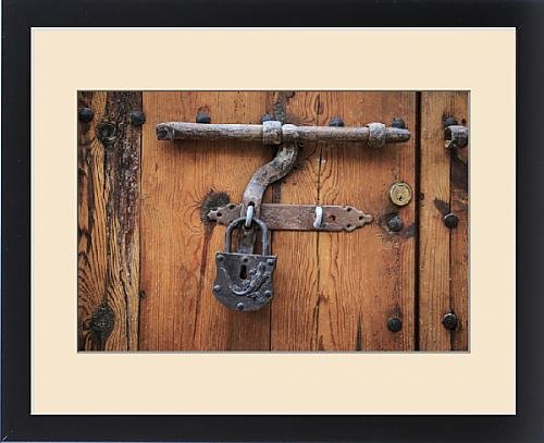 Framed Print of Europe, Spain, Balearic Islands, Mallorca, door bolt and lock by Fine Art Storehouse