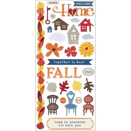 Feels Like Home Cardstock Stickers 5.5 X12 -Favorite Pieces B00F5BS42U | Primäre Qualität