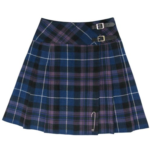 Tartanista Honour Of Scotland 20 inch Kilt Skirt Size US (Purple Plaid Skirt)