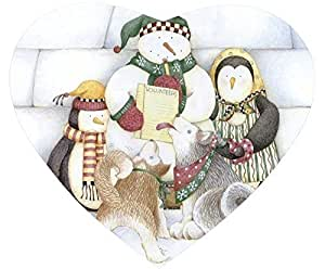 Beautiful Christmas Snowman Mouse Pad Desktop Laptop Mousepads Comfortable Office Mat Cute Gaming Mouse Pad by icecream design