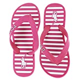 Polo Ralph Lauren Hollins Girl's Flip-Flops Slip-On Sandals Shoes Pink Size 7