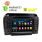 XTRONS 7 Inch Android 5.1 Car Stereo Capacitive Touch Screen DVD Player GPS 1080P OBD2 CANbus Built-in DAB+ Tuner Tire Pressure Monitoring for Mercedes-Benz S-Class W220 S280/S350/S400
