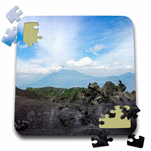 3dRose DanielaPhotography - Landscape, Nature - Volcanic rock formation at Pacaya Volcano in Guatemala - 10x10 Inch Puzzle (pzl_281971_2)
