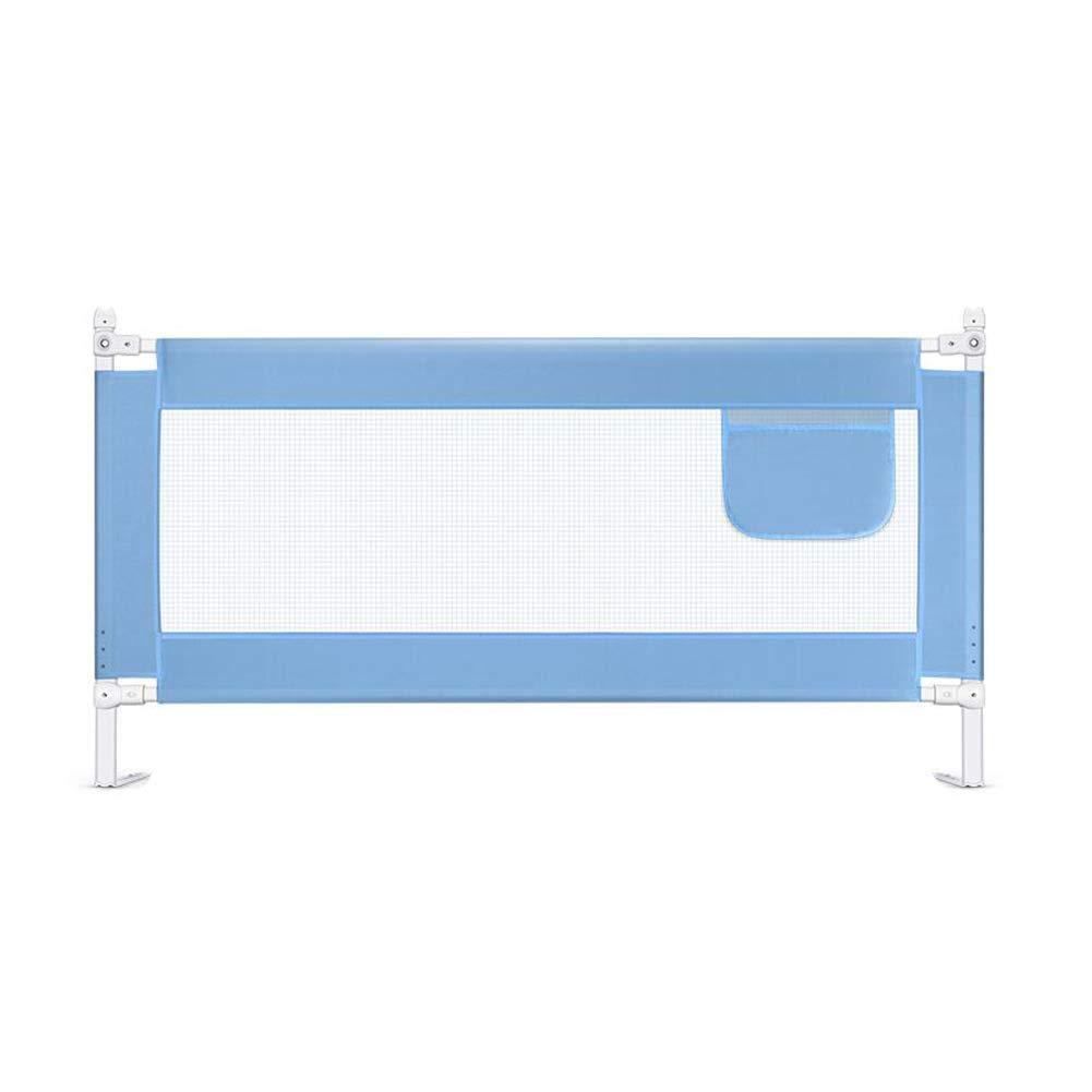 ベビー飛散防止ガードレールベッドサイドバッフルベッドフェンス1.5m~2m (色 : 青, サイズ さいず : 2m) 2m 青 B07L2LH9YJ