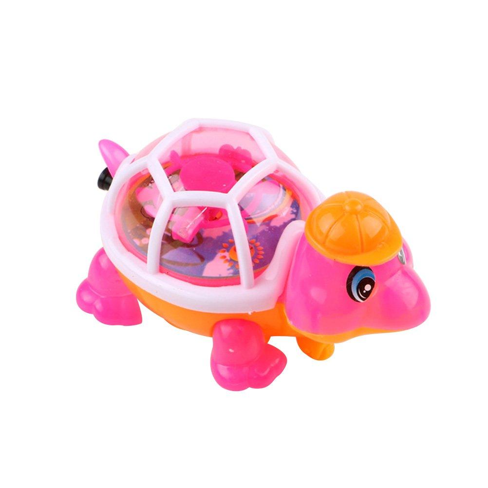 Toyvian Tire de los Juguetes de la Tortuga Que emiten luz Los niños de la pequeña Tortuga juegan (Color al Azar)