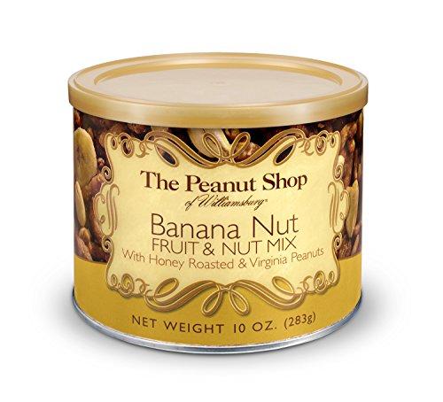 Nut Mix Tin - The Peanut Shop of Williamsburg Banana Fruit & Nut Snack Mix 10 oz. Tin