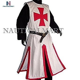NAUTICALMART Medieval Larp Knights Templar Cross surcoat White/Red - XXXL  sc 1 st  Amazon.com & Amazon.com: NAUTICALMART Medieval Larp Knights Templar Cross surcoat ...