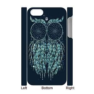 3D {owl Series} IPhone 4/4s Case Owl Tattoo, Pattern Case Zachcolo - White