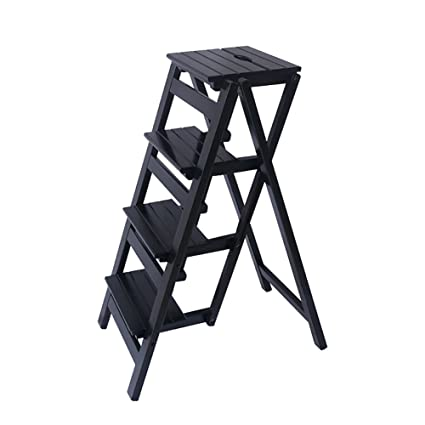 Magnificent Kitchen Wooden Ladders Small Foot Stools Wood Folding Step Stool For Adults Kids Indoor Folding Stepladder Portable Shoe Bench Flower Rack Color Andrewgaddart Wooden Chair Designs For Living Room Andrewgaddartcom