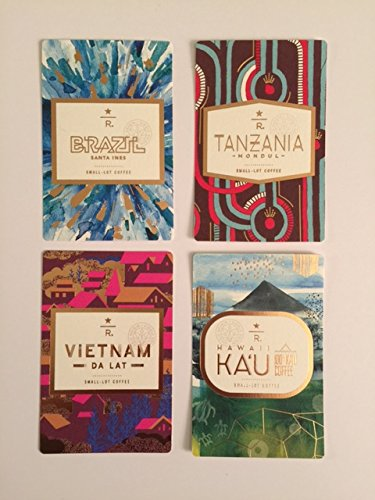 Set of 4 Starbucks Coffee Tasting Cards