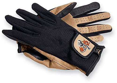 Browning Mesh Back Shooting Gloves, Tan/Black, Medium-Regular