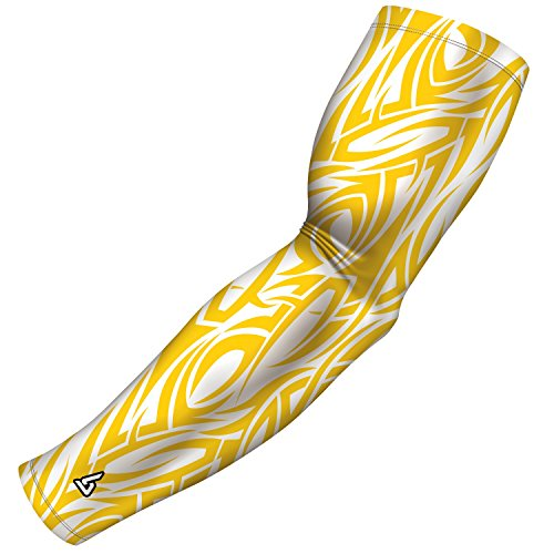 B-Driven Sports Athletic Arm Sleeve for Baseball Football Basketball and Other Sports Activities. Many Colors and Designs Available in Adult and Youth Sizes 100% Gaurantee, Free exchanges