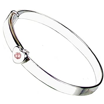 Sterling Silver expanding Baby Christening Bangle Gift boxed Made in UK