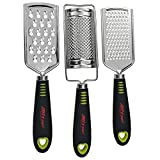 ALLTOP Graters for Cheese,Nutmeg,Potato,Ginger and Garlic,Hand-held Stainless Steel Zester for Kitchen - Multi-purpose Kitchenware,Set of 3 Grinders