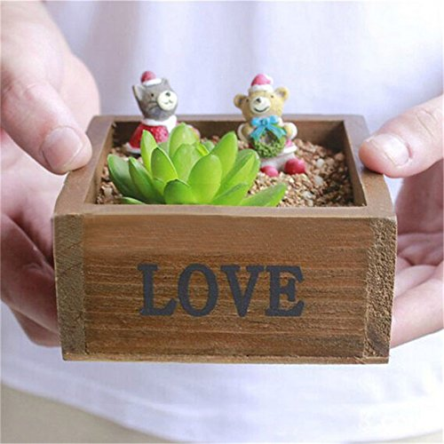 Plant Tray Case Holder Classical Style Treasure Chests Vintage Retro Wooden LOVE Jewelry Antique Trinket Storage Box