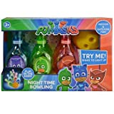Pj Masks Disney Light up Bowling Set - Includes 6 Pins and 1 Ball - Indoor and Outdoor Fun