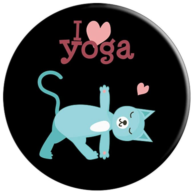 Amazon.com: Cat Yoga Pose Kitty Humor Funny Cat Yogi Workout ...