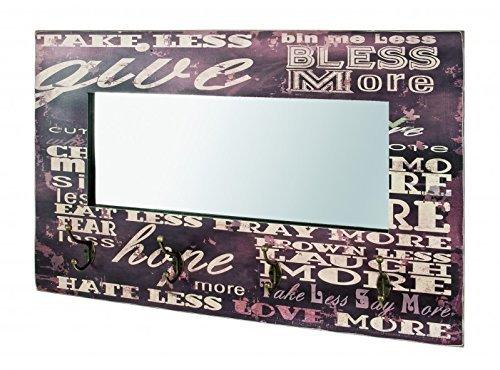 H-Design -Perchero de Pared con Espejo Liverpool en diseño ...