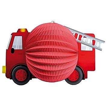 mehrfarbig One Size tib 13432 Laterne Feuerwehrwagen