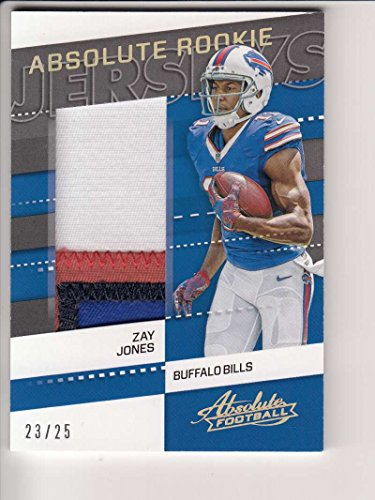 2017 Panini Absolute FB #8 Zay Jones RC Game Worn Jersey RARE 23/25 Bills Box 1