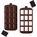 2 Pc Silicone Chocolate Mold Cake Cookie Mold Candy Baking Mold for Chocolate Cake DIY (Break-Apart Chocolate Mold)