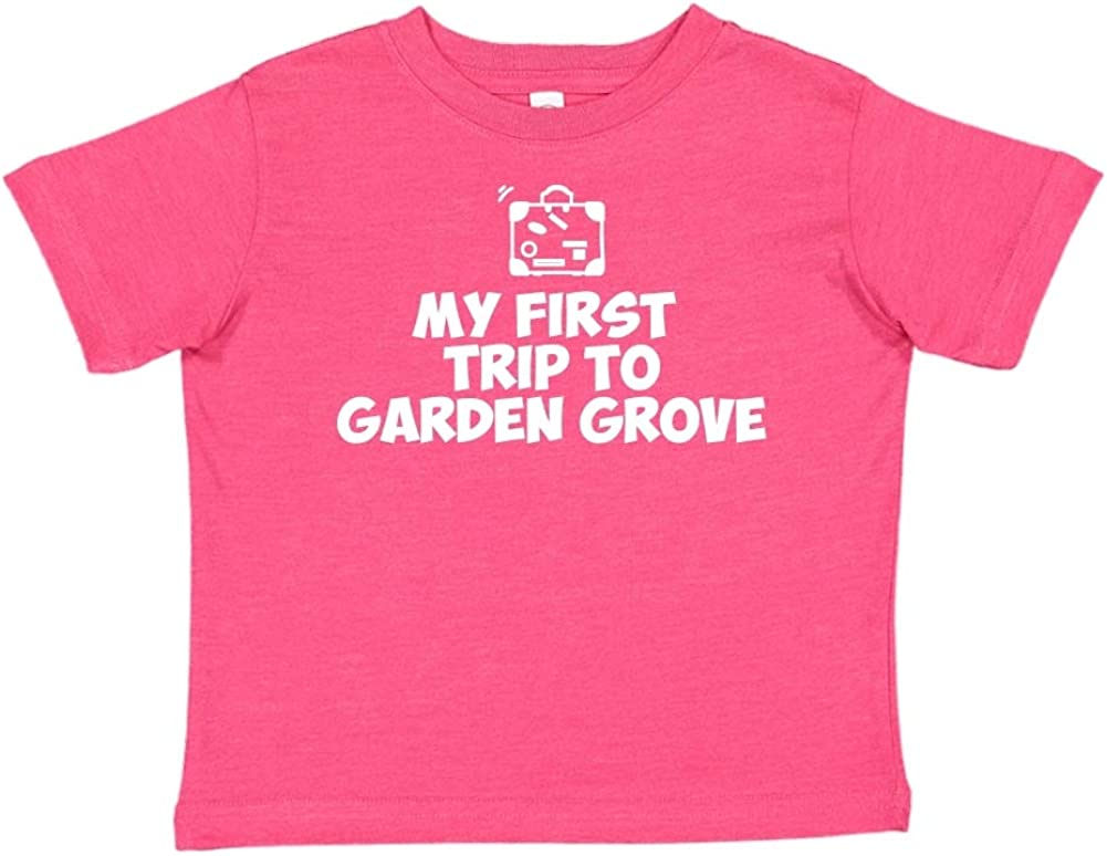 Toddler//Kids Short Sleeve T-Shirt Mashed Clothing My First Trip to Garden Grove