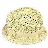 Calvin Klein Women's Packable Graphic Weave Fedora Hat, Natural