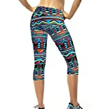 Mandy Women High Wais Yoga Sport Pants Stretch Cropped Leggings (X-Large)