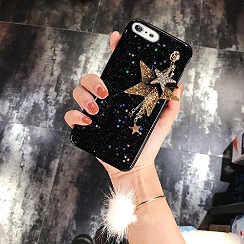 Phone case & Hülle Für iPhone 6 / 6s, Glitter Powder Starfish Pattern Soft Schutzmaßnahmen zurück Fall Fall mit Sternen Anhänger