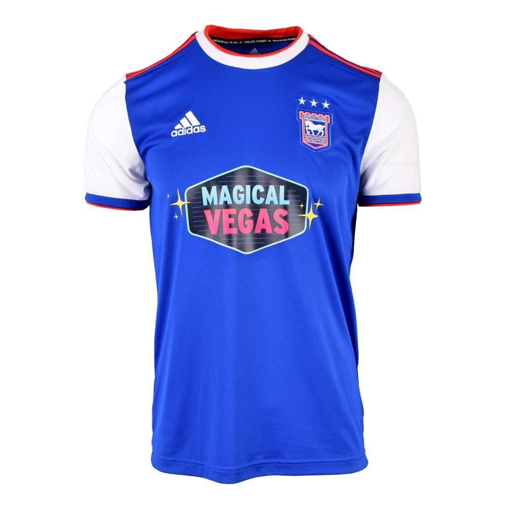 Adidas 2018-2019 Ipswich Town Home Football Soccer T-Shirt Trikot