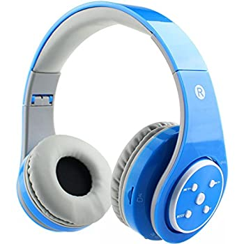 Mokata Kids Headphone Bluetooth Wireless Over Ear Foldable Headset with AUX 3.5mm Jack Cord SD Card Slot , Built-in Mic Microphone For Boys Girls Cell ...