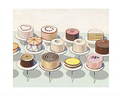 Thiebaud Poster (Cakes, 1963 by Wayne Thiebaud, Art Print Poster 14