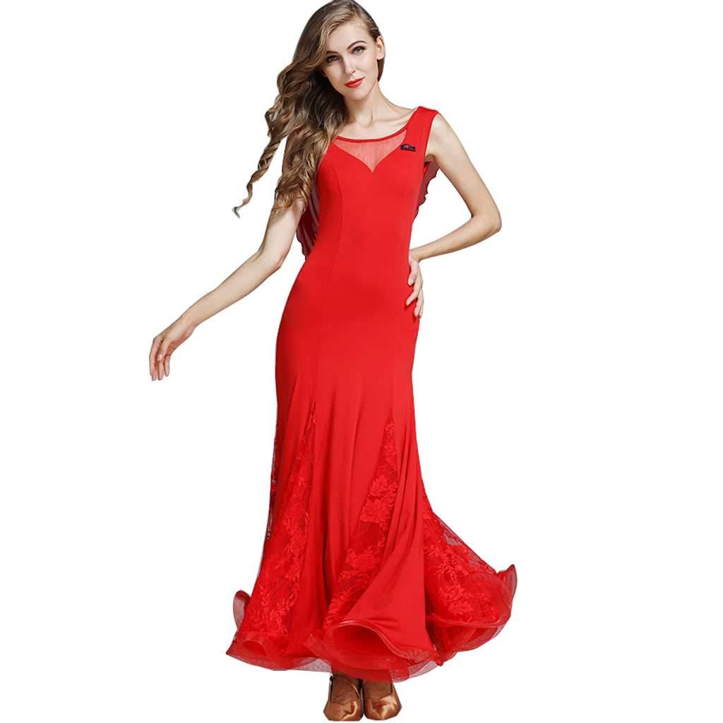 激安 大人のモダンダンススカート B07H296JTR、国家標準ダンスドレス B07H296JTR XXL|レッド レッド レッド XXL|レッド XXL, イーエステshop/もっとキレイに:eeaee91b --- marinaurikh.ru