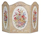 Stupell Home Décor Tapestry And Floral 3-Panel Decorative Fireplace Screen, 43 x 0.5 x 31, Proudly Made in USA