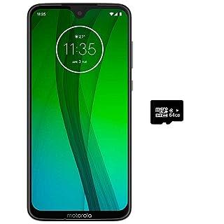 "Motorola Moto G7 (64GB, 4GB RAM) 6.2"" HD+ Display, Dual SIM GSM Unlocked (at&T/T-Mobile/MetroPCS/Cricket/H2O) - XT1962-6 - International Version (Black, 64GB + 64GB SD + Case Bundle)"
