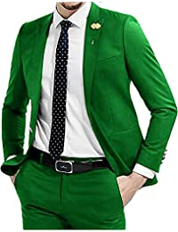 HUIBAOGONG Wedding Tuxedo Blazers Slim Fit 2 Piece Mens Suit for Prom Party Dinner