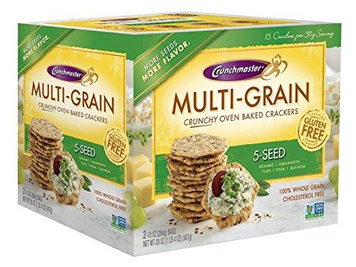 Crunchmaster Multi-Grain 5-Seed Crackers Gluten Free 20 oz