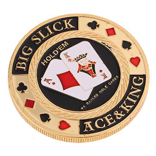 Sharplace バンカーチップ 金属製 ポーカーチップ カジノ用品 プロテクター 全10選択  - #6
