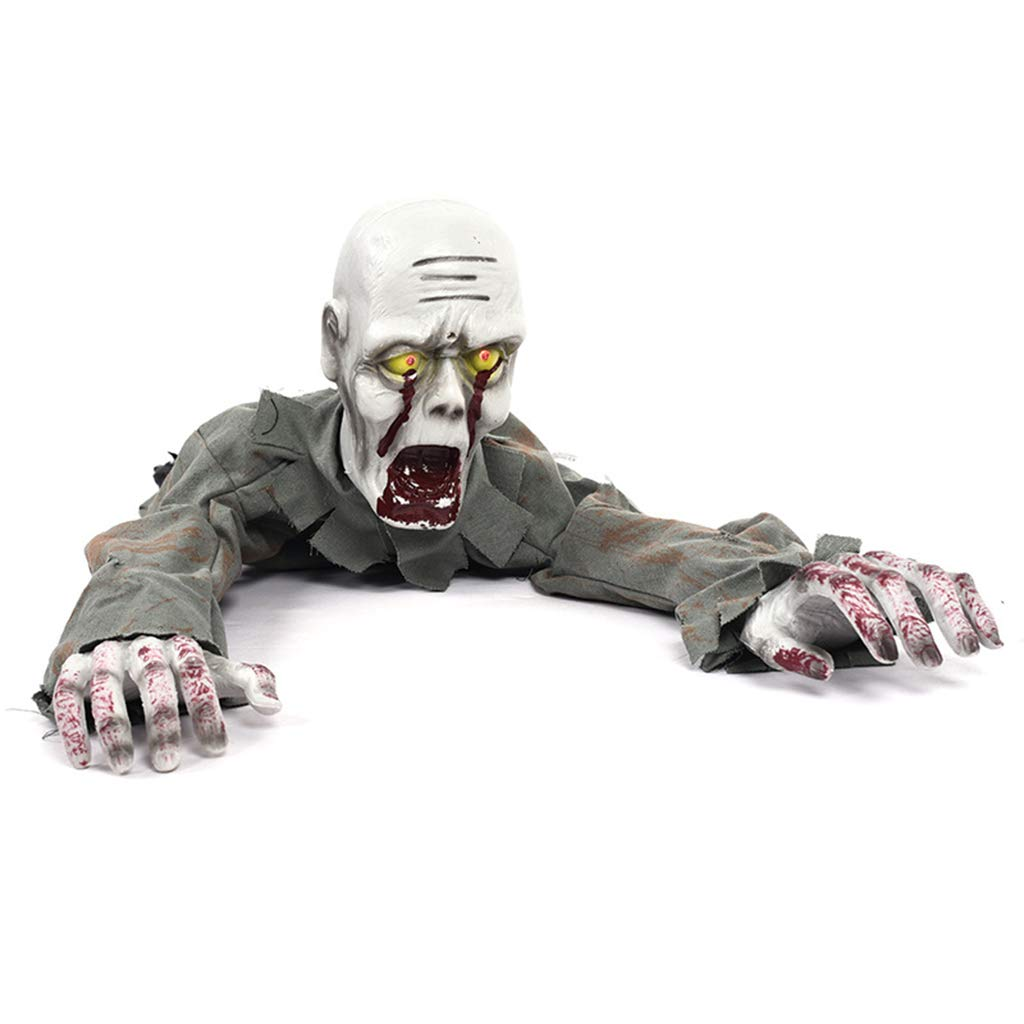Huilier Halloween Decorations Electric Scary Crawling Ghost Zombie Haunted House Horror Props Party Toys by Huilier