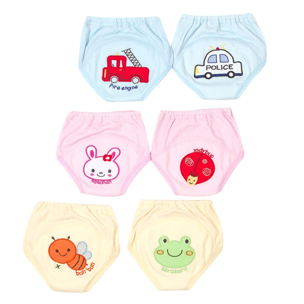 Goodkids Infant Embroidered Breathable Cotton Training Pants Waterproof Cartoon Potty Shorts Underwear Baby Child