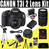 Canon EOS Rebel T3i 18 MP CMOS Digital SLR Camera with EF-S 18-55mm f/3.5-5.6 IS II Zoom Lens and EF 75-300mm f/4-5.6 III Telephoto Zoom Lens + 16GB Deluxe Accessory Kit, Best Gadgets