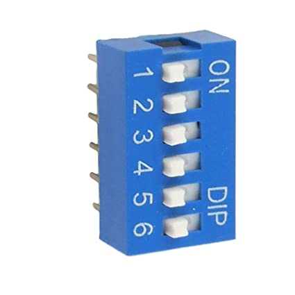 5 Pcs 2.54mm Pitch 3 Position Slide Type DIP Switches NEW