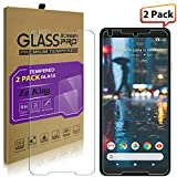 [2-Pack]Google Pixel 2 XL Tempered Glass Screen Protector, ZeKing 0.33mm 2.5D Edge 9H Hardness [Anti Scratch][Anti-Fingerprint] Bubble Free for Google Pixel XL 2, Not fit for Google Pixel XL