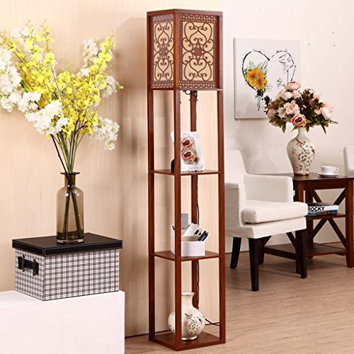 TangMengYun Lámpara de pie Moderna, lámpara estándar para la lámpara de cabecera del Dormitorio Sala de Estudio de la...