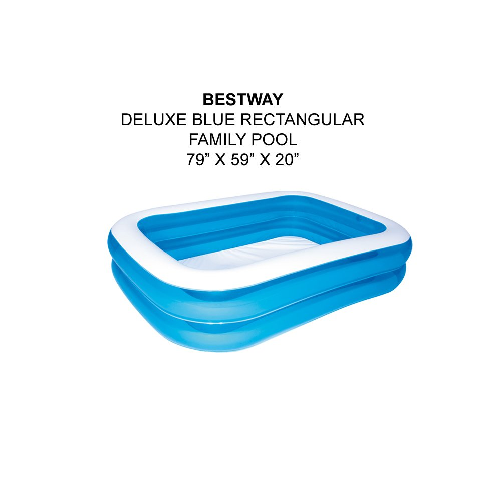 BestWay Rectangular Inflatable Paddling Pool For Family Outdoor Swimming (79