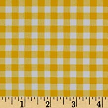Oilcloth Gingham Yellow Fabric By The Yard